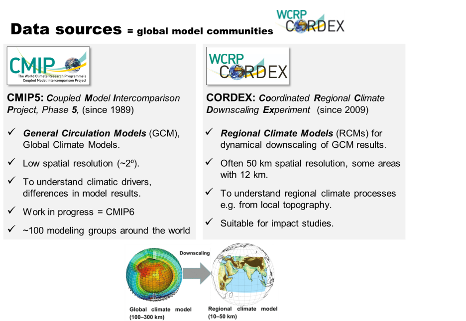 CMIP and CORDEX summaries